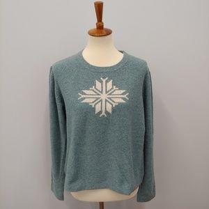 SUNDANCE XL Snowflake Wool Blend Sweater
